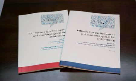 """Pathway to a quality support and assurance system for childminding"" Launched by Minister Katherine Zappone on 26th March 2018"